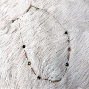 WHBM Gold Beaded Necklace